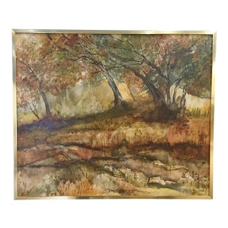 Vintage Landscape Oil Painting For Sale