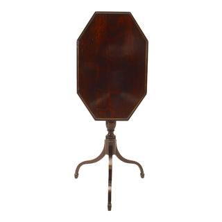 English Sheraton Mahogany End Table For Sale
