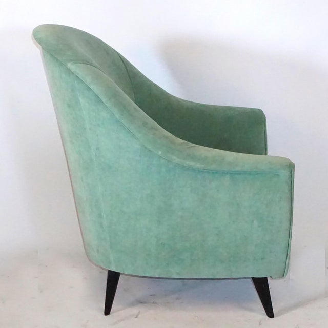 Hollywood Regency Pair of Mid-Century Club Chairs by Marco Zanuso For Sale - Image 3 of 5