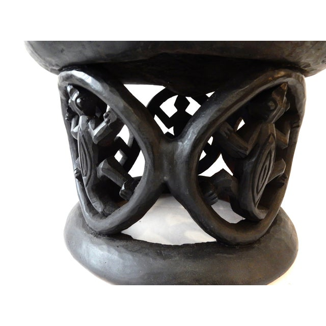 African Bamileke Crocodile Stool - Image 5 of 8