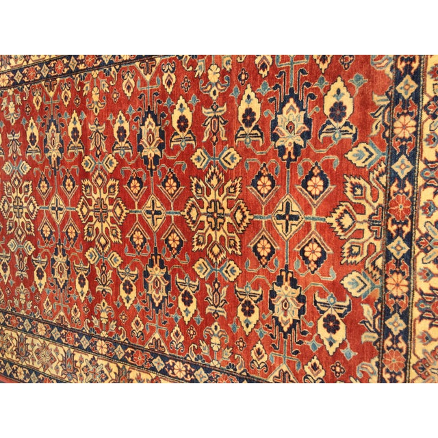 "Kazak Knotted Wool Rug -- 7'6"" x 11'3"" For Sale In New York - Image 6 of 10"