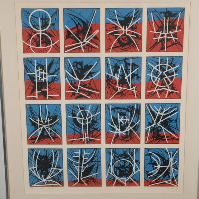 White Mid-Century Modernist Screenprint by Jimmy Ernst Untitled For Sale - Image 8 of 11