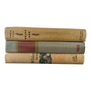 Final Price! Antique Decorative Books - Set of 3 For Sale