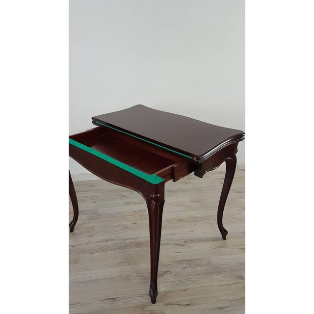 19th Century Italian Louis XV Style Rosewood Game Table For Sale - Image 6 of 10