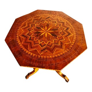 19th Century Italian Inlaid Occasional Center Table For Sale