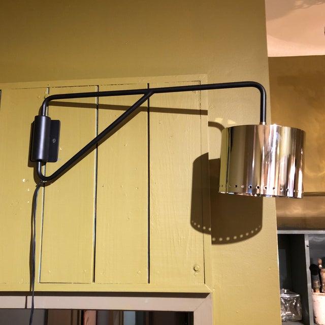 Black & Silver Shaded Wall Lamp - Image 2 of 8