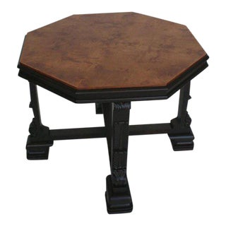 Swedish Grace Period Table with Ebonized Carved Base For Sale