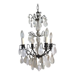 Rock Crystal French Chandelier