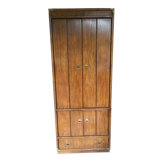 Drexel Campaign Style Armoire For Sale