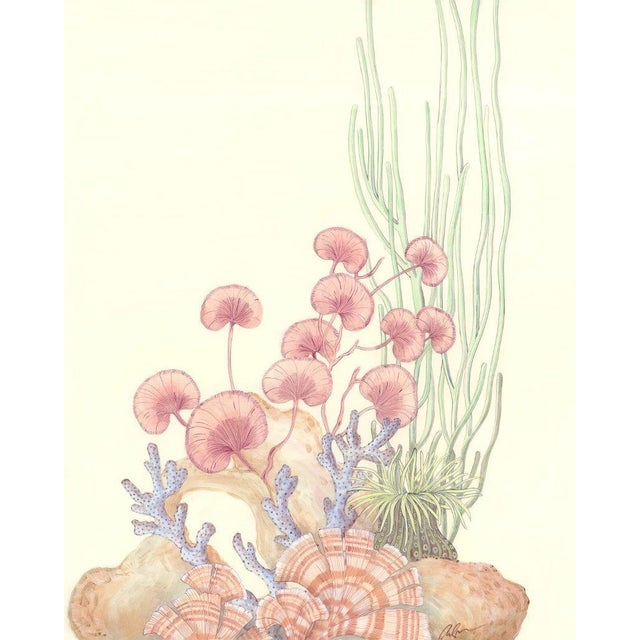 2020s Contemporary Coral Reef Acrylic Triptych Painting by Allison Cosmos - Set of 3 For Sale - Image 5 of 11