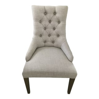 Restoration Hardware Martine Tufted Fabric Arm Chair For Sale