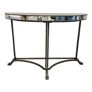 Curved Console With Antique Mirror For Sale