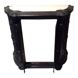 Antique Art Deco Iron Old Man Winter Console Table For Sale