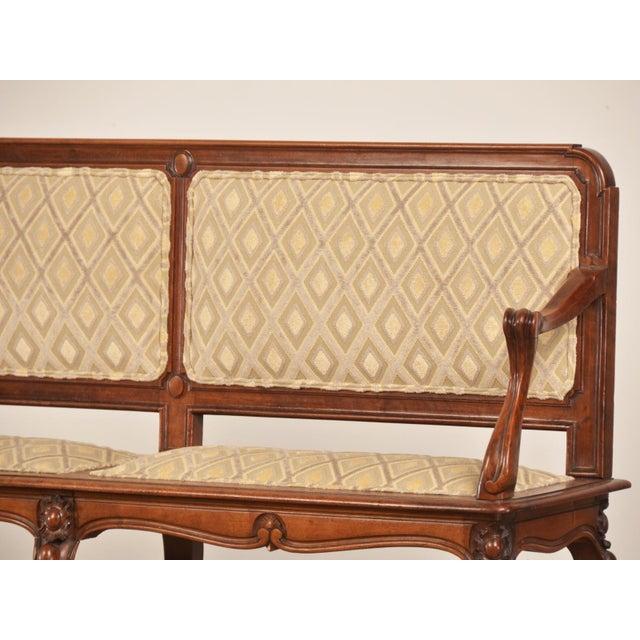 Luxury Antique French Art Nouveau Period Walnut Settee Bench circa ...