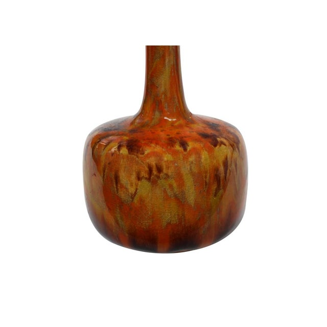 Orange Drip Glaze Vase - Image 3 of 4