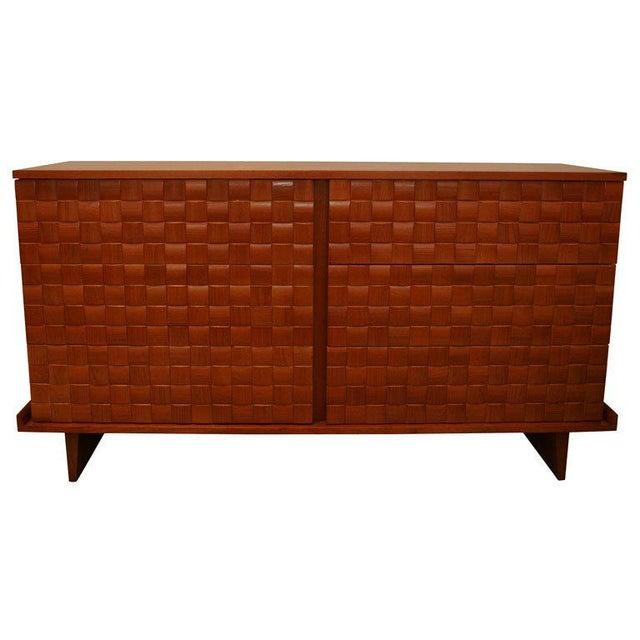 Mid-Century Modern Paul Lazslo Basketweave Dresser For Sale - Image 3 of 3