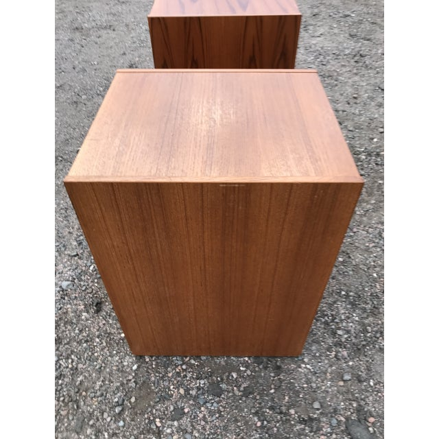 Wood Danish Teak File Cabinet on Casters by Jesper For Sale - Image 7 of 13