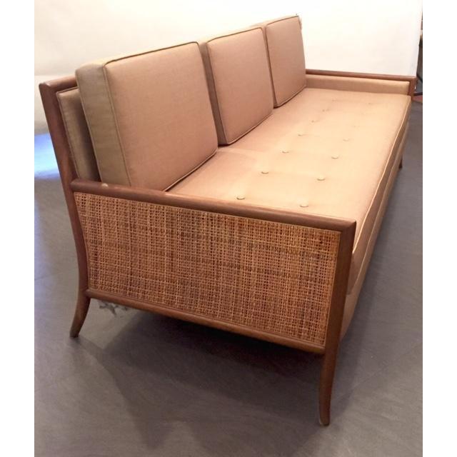 Mid-Century Tan Cane Sofa - Image 3 of 3