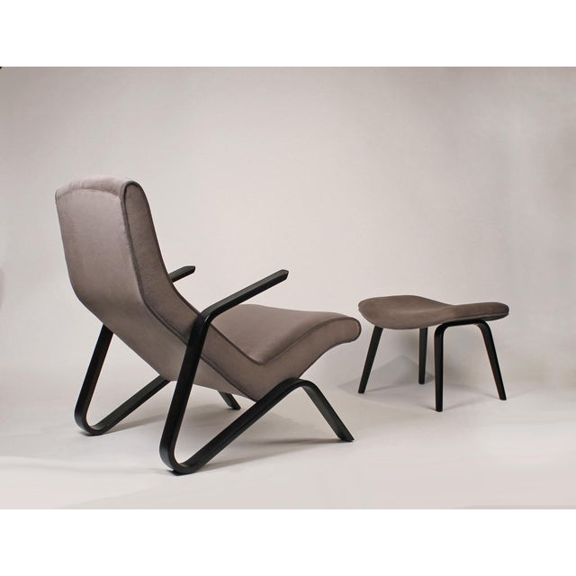 Pair of Early Eero Saarinen Grasshopper Chairs for Knoll With Rare Black Frames For Sale - Image 10 of 10