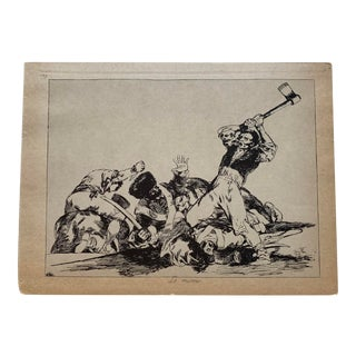 "Mid 19th Century Francisco Goya Y Lucientes (Spanish, 1746-1828 Plate # 3 ""Lo Mismo"" (The Same) Print For Sale"