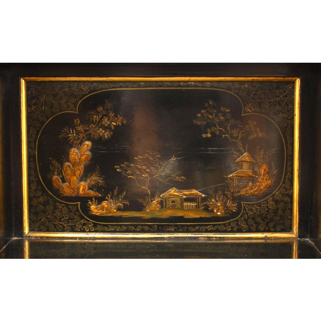 Regency Lacquered Chinoiserie Sideboard For Sale - Image 4 of 8