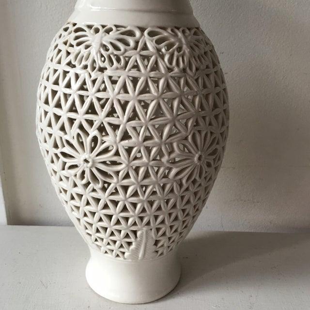 Asian Blanc De Chine Pierced Jar For Sale - Image 3 of 6