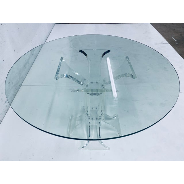 Verano Lucite Dining Table With Glass Top For Sale In Miami - Image 6 of 13