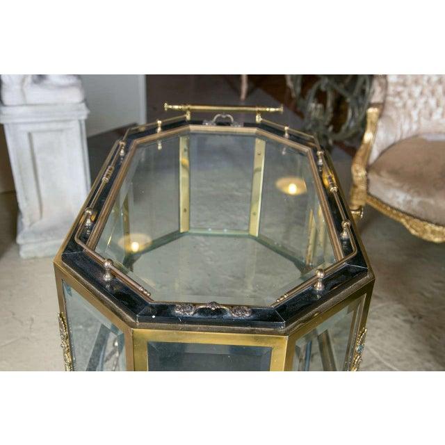Gold Bronze & Glass Vitrine Tea Wagon Cart For Sale - Image 8 of 8