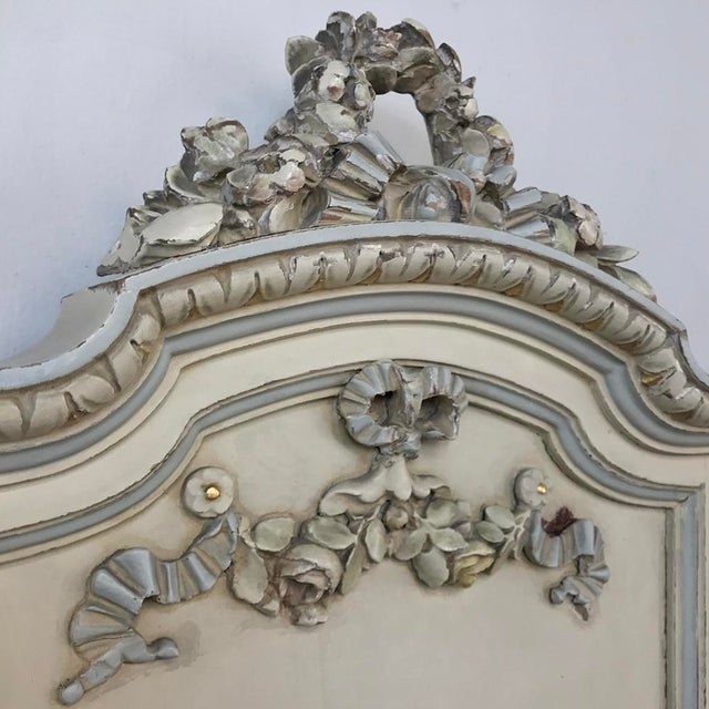 Wood Pair Antique Italian Louis XVI Painted Nightstands For Sale - Image 7 of 13
