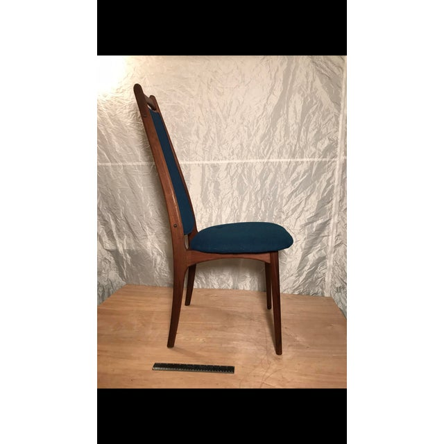 Mid-Century Blue Dining Chair - Image 3 of 6