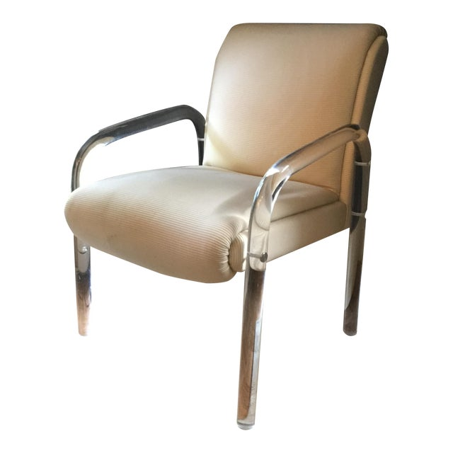 Leo Rosen for Pace Lucite Arm Chair - Image 1 of 9