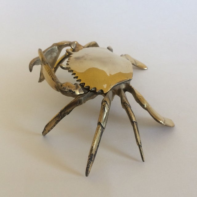 Coastal Living Brass Crab Ash Tray - Image 7 of 9