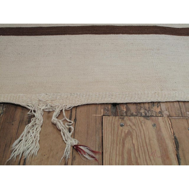Banded Kilim Wide Runner For Sale In New York - Image 6 of 8