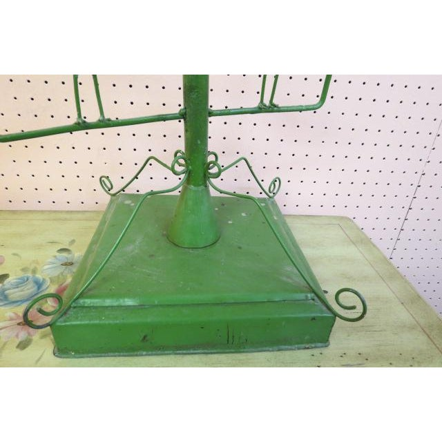 Vintage Green Wrought Iron Bird Motif 11 Candle Garden Fixture For Sale - Image 4 of 5