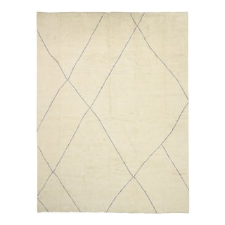 Moroccan Area Rug With Organic Modern Style 12'01 X 16'01 For Sale