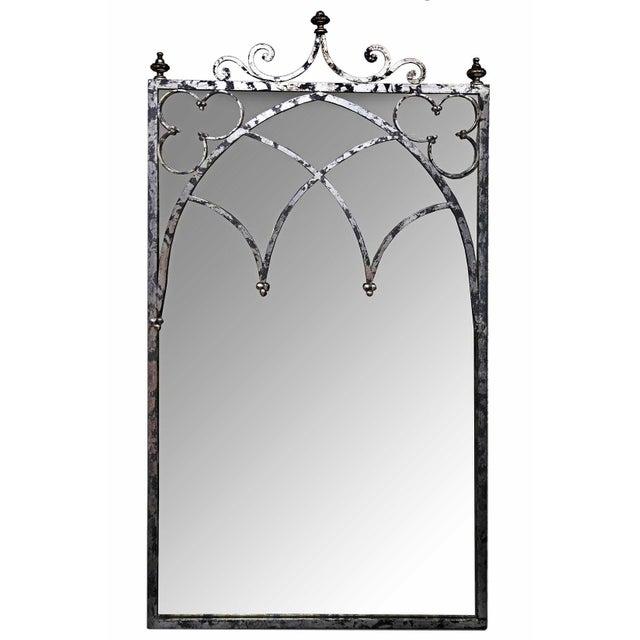 Mirror - Silvertone Arched Mirror - Image 1 of 4