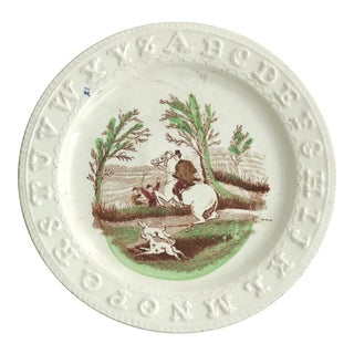 19th Century Staffordshire Abc Childs Plate For Sale