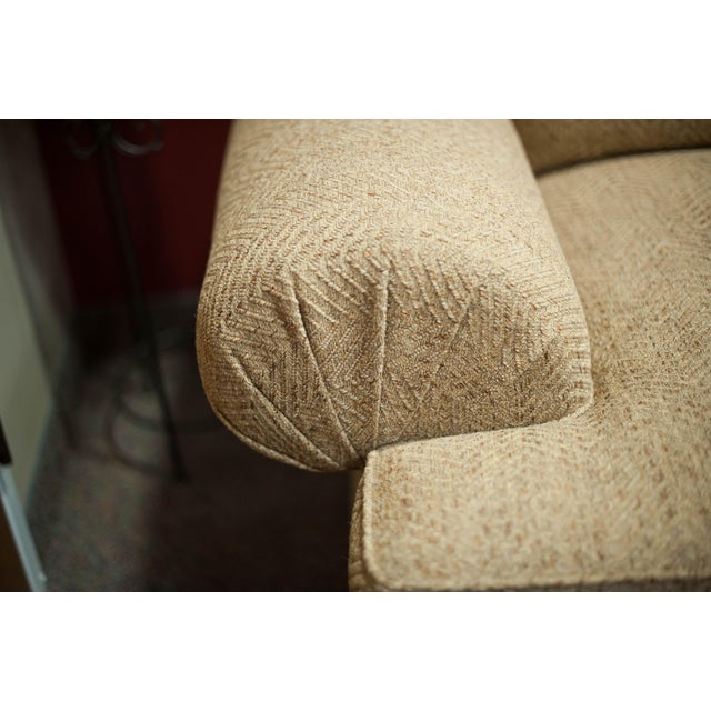 Hickory White Speckled Tan Love Seat - Image 7 of 10