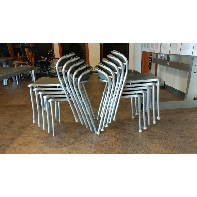Arper Pamplona Aluminum Chairs - Set of 10 - Image 2 of 7