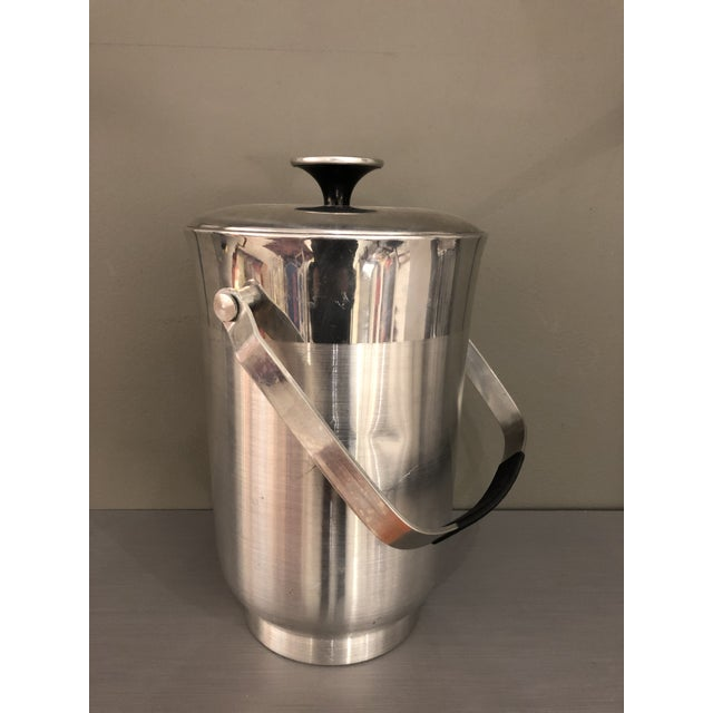 Vintage Mid-Century Chrome Ice Bucket For Sale - Image 10 of 10