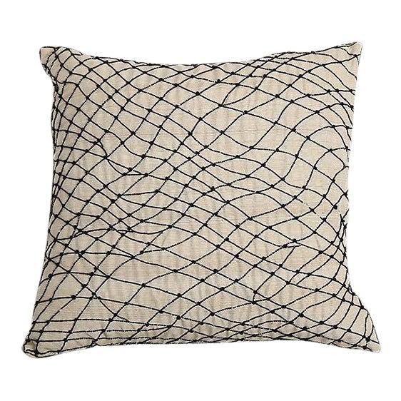 Pyar Black Beaded Pillow - Image 1 of 4