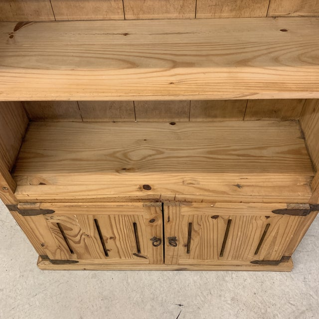 1970s Mexican Unfinished Pine Bookshelf For Sale - Image 5 of 13