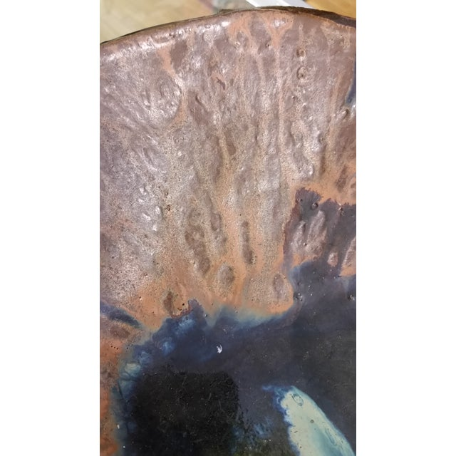 Artisan Live Edge Stoneware Pottery Bowl For Sale In New York - Image 6 of 8