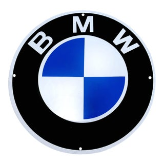 Vintage Enamel Bmw Auto Advertising Sign, Munich, Germany For Sale