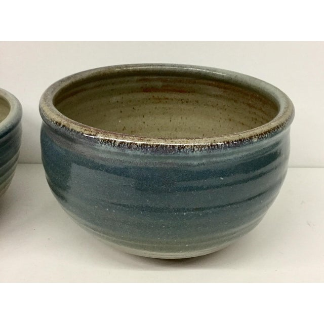 I did not have the heart to separate this ultra cool set of artisanal hand thrown bowls. The colors are rich and just...