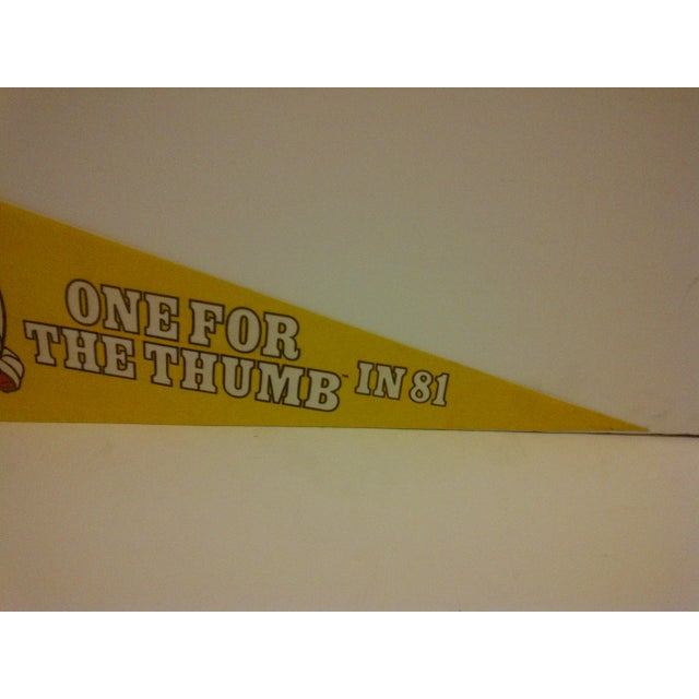 Vintage 1981 Pittsburgh Steelers Pennant Flag For Sale - Image 4 of 5