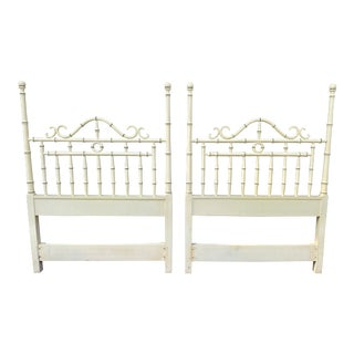 Faux Bamboo Twin Headboards Kensington by Drexel - a Pair For Sale