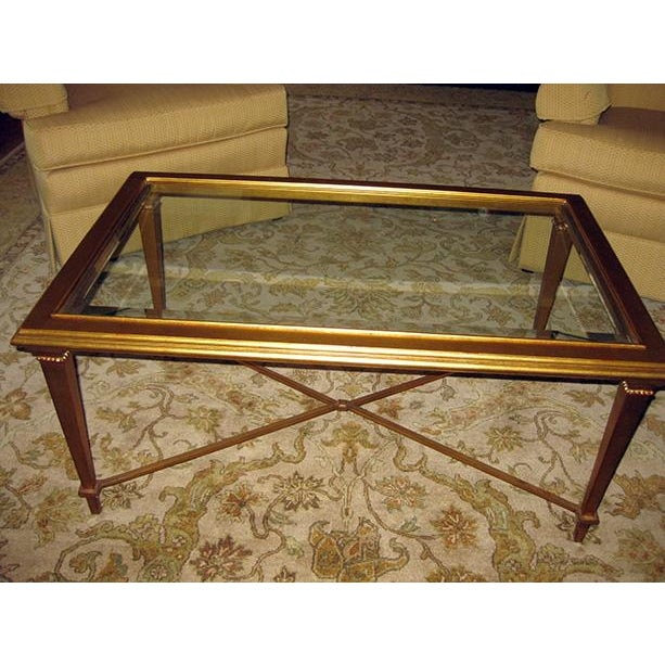 Bristol Gold-Leaf Coffee Table - Image 2 of 3
