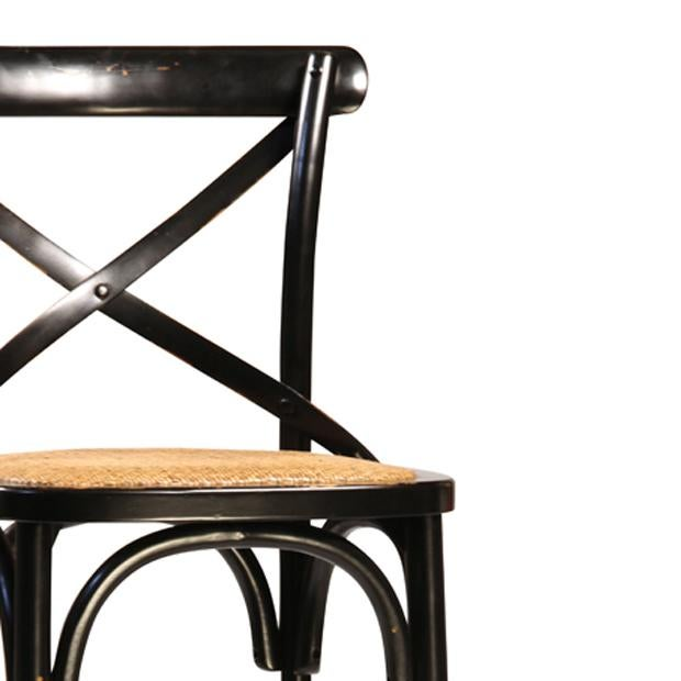 Black Painted Oak Bar Stool - Image 2 of 2
