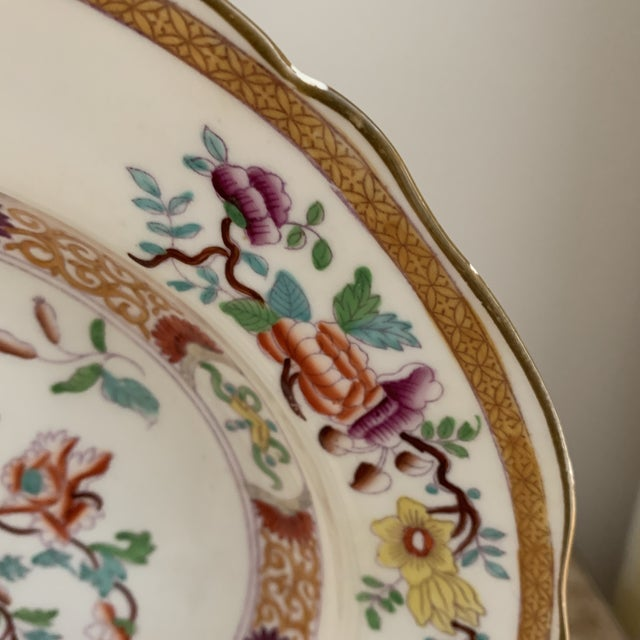 Late 19th Century Antique English Masons Minton Shallow Bowls - Set of 4 For Sale - Image 5 of 12